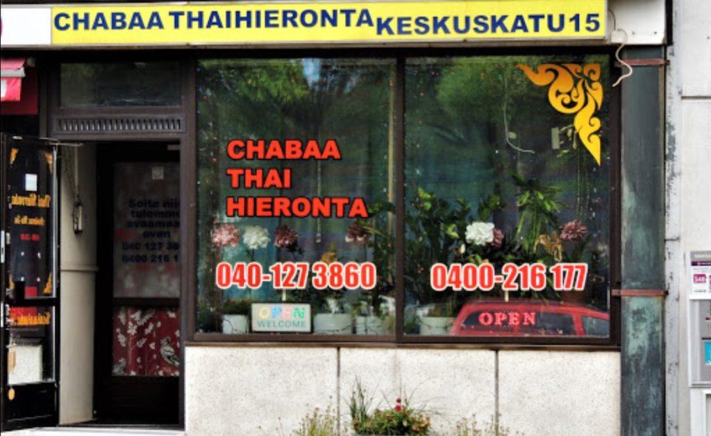Chabaa thaihieronta sisäänkäynti